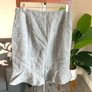 Folio Gray Wool work skirt sz 6 small Teacher OOTD